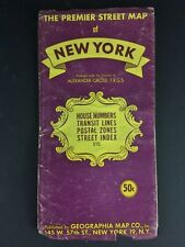 """Assez rare """"The premier Street Map of New York"""" (vers 1950's vintage)"""