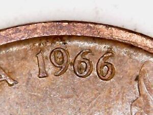 1966 Australia 1c One Cent ** ERRORS - DOUBLING and OFF CENTRE ** #B01