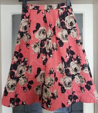 TOPSHOP SKIRT PINK FLORAL SIZE 8 USED