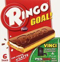 3x Pavesi Kekse Ringo Goal schokoriegel mit Milch und Schokolade 170gr 6 snack