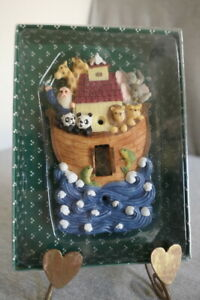 NEW 1996 Ranger International Resin Painted Noah's Ark Single Light Switch Plate