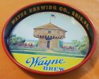 Wayne Brewing Advertising Tray from Erie, PA. FEATURING  MAD ANTHONY BLOCKHOUSE