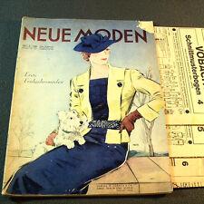 Magazine nouveau modes 2/1936 - 3 (!!!) motifs de coupe-BG 30er Ans bijoutier