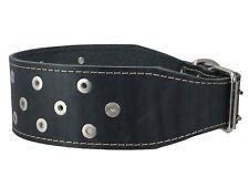 "Heavy Duty Genuine Leather Studs Dog Collar 23.5""-27"" neck Mastiff Great Dane"