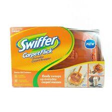 NEW Swiffer Carpet Flick Starter Kit 1 Sweeper With 4 Cartridges