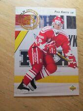 1992-93 UPPER DECK HOCKEY, PAUL KARIYA, ROOKIE CARD #586, MINT
