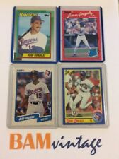Juan Gonzalez RC 1990 Topps Donruss Rookie 4 Baseball Card LOT Texas Rangers MLB