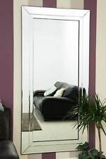 Wall Mounted Full Length Large All Glass Mirror 5Ft9 X 2Ft9 174cm X 85cm