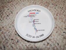 Ms Sagafjord 1988 Alaska Cruise Cunard Nac Rosenthal Souvenir Coaster/Tray/Dish