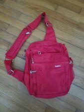 Baggallini Red Nylon Crossbody Hobo Shoulder Handbag Purse