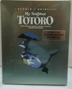 My Neighbor Totoro - Steelbook - Blu Ray and DVD - New
