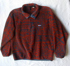 Vtg Patagonia Mens Snap T Fleece Pullover made in Canada Aztec Tribal Print