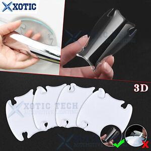 4pcs 3D Invisible Clear Car Door Handle Guard Film Sheet Paint Scratch Protector