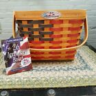 Longaberger 25th Anniversary Basket Red White Blue AMERICANA US FLAG 01/98 ONLY