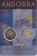 ANDORRA 2 euro 2015 set oficial 25 aniv. ACUERDO ADUANERO CON LA UNIÓN EUROPEA