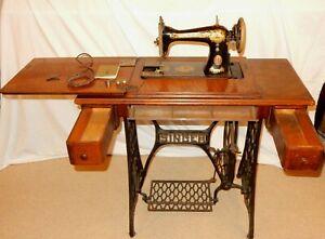 Antique Sphinx Singer Treadle Sewing Machine 15K80 c.1933