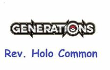 Generations Common Pokémon Individual Cards with Holo