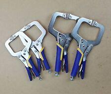 "9""11"" Heavy Duty Steel C Clamps, Mig Welding Locking Plier Vice, Rubber Handle"