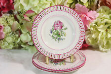 Luneville,Vintage French Provincial Hand Painted Small Plates (3)