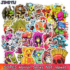 50pcs Horror Cool Car Sticker Graffiti Bomb Skateboard Luggage Decal For Kids