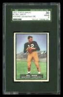Rare 1951 Topps Magic #2 Bill Wade Football Rookie RC Card SGC 30 / 2 GD