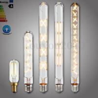 E27 E12 E14 2/4/6/8/12W Dimmable Edison Vintage COB LED Filament Light Bulb Lamp
