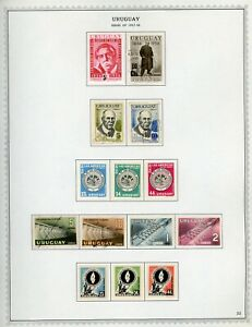 URUGUAY Minkus Specialized Album Page Lot #52 - SEE SCAN - $$$