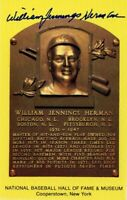Billy Herman Autographed Hall of Fame Card With Scarce FULL Signature