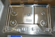 """New listing Whirlpool Wcg97Us0Ds 30"""" Stainless 5 Burner Gas Cooktop #28269"""