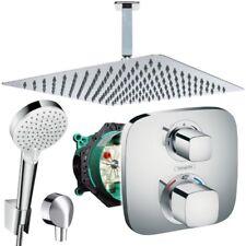 Unterputz Duschsystem mit Kopfbrause 300x300, Hansgrohe Ecostat E Thermostat Bad