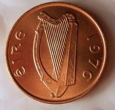 1976 IRELAND PENCE - AU/UNC - From Irish Mint Roll - BIN #EEE