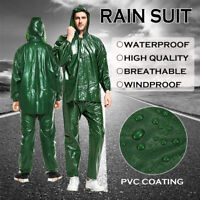 Men Rain Suit Waterproof Windproof Rain Suit Jacket Trousers For Hiking