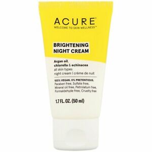 Acure - Night Cream - Argan Extract and Chlorella - 1.7 FL oz. 2 Pack