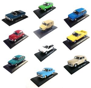 Lot de 10 Voitures Miniatures 1/43 Opel Lada Dacia Deagostini Model car LBA15