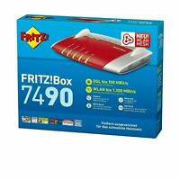 Fritzbox 7490 AVM FRITZ!Box mit originalem Zubehör Router Mesh Repeater DSL