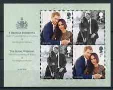GB 2018 MNH Prince Harry & Meghan Royal Wedding 4v M/S Royalty NO BARCODE Stamps