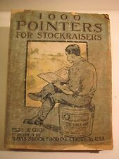 RARE 1,000 POINTERS STOCK RAISERS antique FARM GUIDE HORSE COW MEDICAL co @ $249