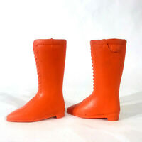 Vintage Ideal Orange Pair Chrissy Doll Lace Up Boots 5223 1971