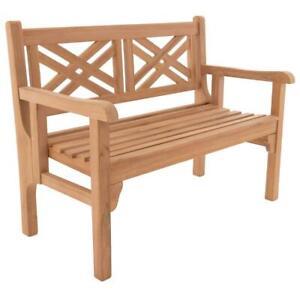 DIVERO 2-Sitzer klappbar 120x61x91 cm Teak Holz behandelt Parkbank Gartenbank