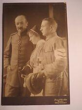 Goslar - 2 Soldaten in Uniform & Krankenschwester - Abzeichen - Portrait / KAB