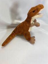 "T-Rex Plush Wildlife Artists 7"" brown dinosaur"