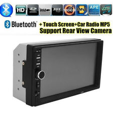 "7"" Touch Screen FM Bluetooth Radio Audio Stereo 2 Din Car MP5 Video Player Camer"