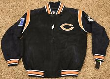 MENS LARGE NFL CHICAGO BEARS SUEDE FIELDERS FOOTBALL JACKET COAT NEW WITH TAGS