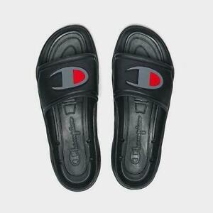 CHAMPION Men's Hydro-C Slide Sandals Slippers - Black NEW Sizes 8-13 Slides