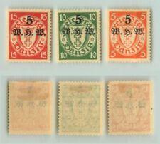 Danzig 1934 SC B9-B11 mint  1931-1940 . rt9704