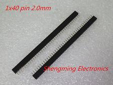 50pcs 1X40 2.0mm 40Pin Header Single Row Female for DIP PCB Board convert RoHS