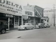 Vintage Black & White Photo Snapshot 1951 Virginia City Nevada Delta Saloon Cafe