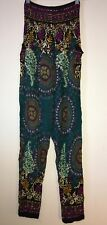 Size S Paisley Loung Pants/Harem Pants - Green Mix