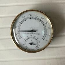 Durable 4 '' Sauna Thermometer + Hygrometer für Saunen und Dampfbäder
