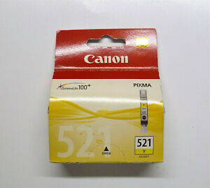 Original Canon CLI-521Y Yellow Pixma MP620 MP630 MP640 MP980 MP990 Boxed